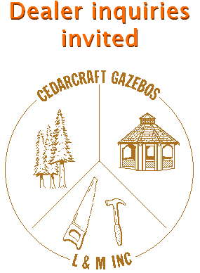 Cedarcraft Gazbeos / L and M circle logo